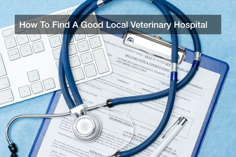 How To Find A Good Local Veterinary Hospital